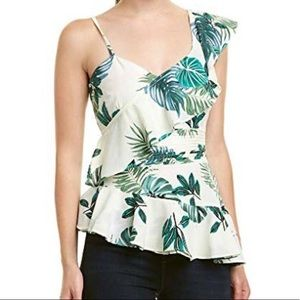 NWT Walter Baker butterfly palm tank top XS